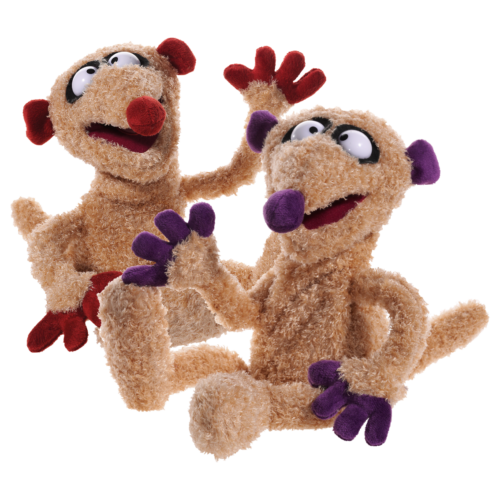 2er Set Handpuppen Jan & Herny